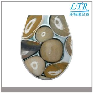 Decorative UF Sanitary Toilet Seat with Pebble Pattern
