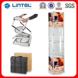 Good Quality Round Foldable Rotating Display Tower pictures & photos