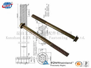 Railway Bolt M25 M28 Used in Tunnel Construction in 8.8grade HDG Coating