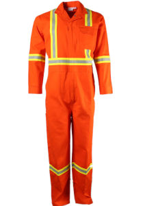 Flame Retardant Workwear Orange Overall with Reflective Tape