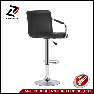 PU Leather Hydraulic Lift Adjustable Counter Bar Stool pictures & photos