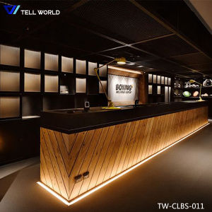Wholesale Latest LED Night Club Bar Counter Design Modern Commercial Bar  Lounge And Club Furniture