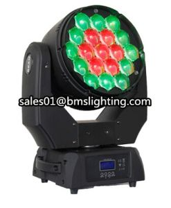 19X15W RGBW LED Zoom Wash Moving Head Light (BMS-8820)