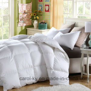 Downproof Fabric 250GSM 80% Duck Down Feather Duvet pictures & photos
