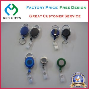 Plastic/Metal Retractable Custom ID Card Holder Badge Reels pictures & photos