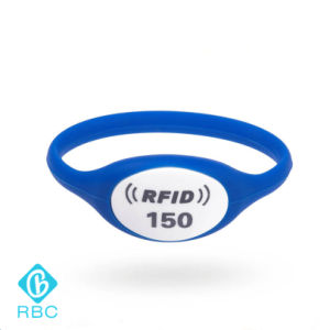 125kHz RFID Watch Case Silicone Wristbands for Management/Payment