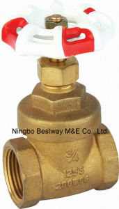 Brass Material Gate Valve with Handle Wheel pictures & photos