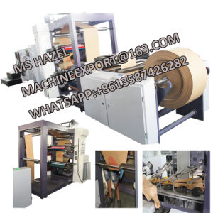 PLC Touch Screen Computer Control Paper Bag Making Machine