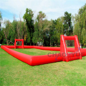 Red PVC 24X12m Inflatable Football Pitch Sports Game pictures & photos