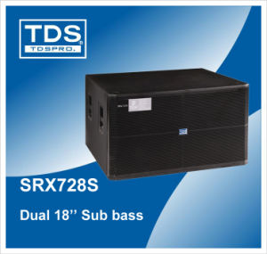Dual 18inch Subwoofer Speaker Box Srx728s Used in Night Club, Disco Room pictures & photos