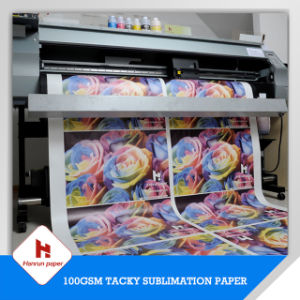 100GSM Anti-Ghost Tacky Sublimation Transfer Printing Paper for Sportswear/Active Wear