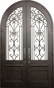 Modern Good Double Wrought Iron Safety Gate Door pictures & photos