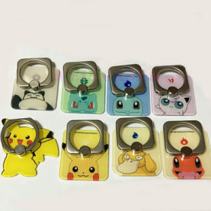 Square Pokemon/Pikachu Phone Ring Buckle/Holder for Mobile Phone