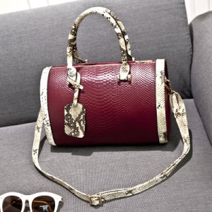 2015 Winter Snake Embossed Fashion Bag of Leather Handbag (XP1025) pictures & photos