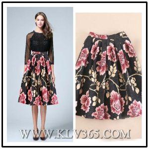 9ec0320bca China Latest Skirt Design Women Ladies Fashion Floral Printed Long ...