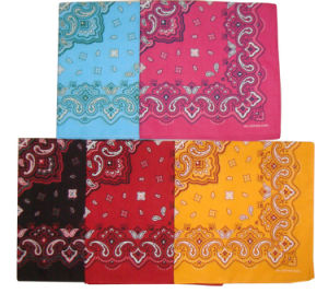Fashion Cotton Custom Printing Paisley Bandana pictures & photos