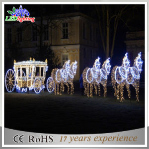 outdoor 3d led reindeer with sleigh christmas decoration light