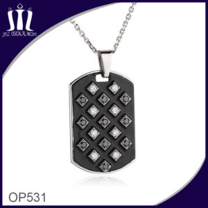 CNC Mirco Inlay Zirconia Black Oil Enamel Pendant pictures & photos