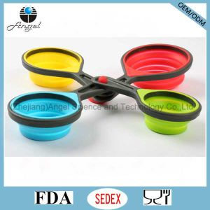 Food Grade Silicone Measuring Cup and Spoon Set Sk10