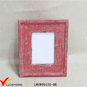 Chic Red Table Standing Distressed Photo Frames pictures & photos