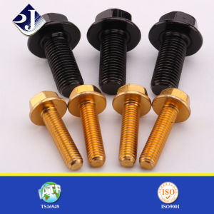 Flange Bolt 10.9 for Automobile SGS Black Zinc Plated pictures & photos