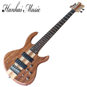 Hanhai Music / 5 Strings Natural Wood Color Electric Bass Guitar pictures & photos