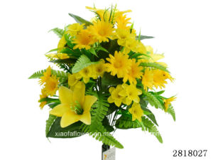Artificial/Plastic/Silk Flower Lily/Daisy/Daffodil Bush (2818027)