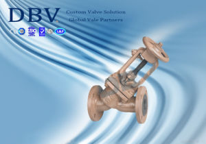 Ce Casting Wcb PTFE Rubber Seated Globe Valve