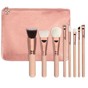 8piece 100% Vegan Rose Gold Makeup Brush Set (ST0804)