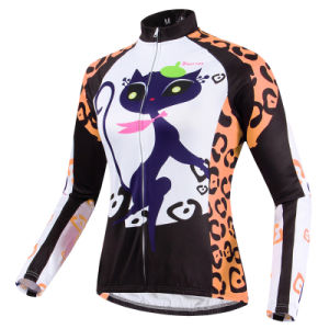 Outdoor Cycling Catwomen Long Sleeve Women′s Bike Wear Suit pictures & photos
