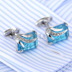 VAGULA Men French Cufflinks Wedding Gift Gemelos Zircon Crystal Cuff Links 162 pictures & photos