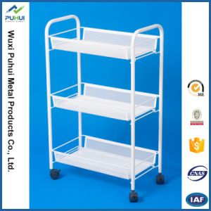 3 Tiers White Color Storage Utility Cart pictures & photos
