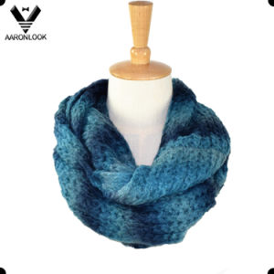 Popular Soft Acrylic Mohair Knitted Colorful Neck Warmer
