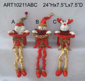 Standing Santa Snowman Christmas Christmas Decoration Toys-3asst pictures & photos