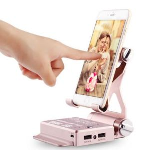 5200mAh External Battery Pack Mobile Power Bank + Speaker + Phone Stand for iPhone, Samsung pictures & photos