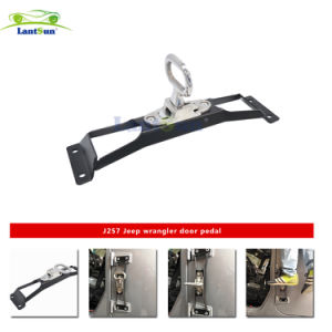 J257 Lantsun No Drilling Steel Black Door Hinges Foot Rest Pedal Peg for Jeep Wrangler 2007-2016 pictures & photos