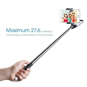 Extendable Mini Monopod with 3.5mm Wire Connecting Selfie Stick pictures & photos