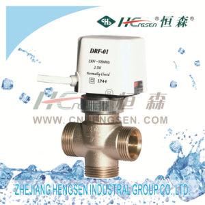 Drf Electric Thermal Valve with Thermoelectric Actuator for Fan Coil/Female Thread D N15, D N20, Used in Air Conditioning System&Heating System pictures & photos