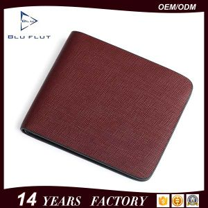 Fashion Style Custom Brand Logo Genuine Cowhide Wallet pictures & photos