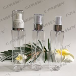 Transparent Pet Perfume Bottle with Spray Pump for Cosmetics Packaging (PPC-PB-080) pictures & photos