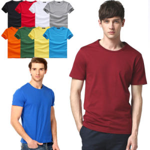 2017 Wholesale Men Cotton T-Shirts Fashion Fitness Tee Shirts pictures & photos