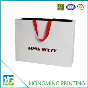 Luxury Design Silk Handle White Paper Bag pictures & photos