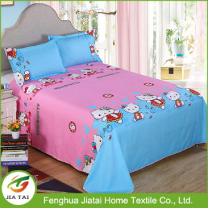 Custom Polyester Textile Fabric Kids Cartoon Bed Sheet