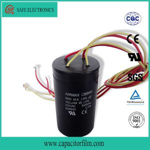 Cbb60 AC Motor Running and Starting Metallized Polyester Film Motor Capacitor with Screw Feet pictures & photos
