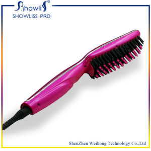 Hair Styling Straightening Electric Ceramic Flat Iron Brush