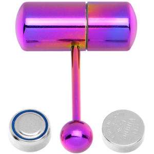 Titanium Newest Fake Industrial Vibrating Tongue Ring Jewelry
