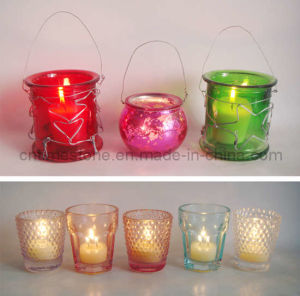 Glass Candle Holder (TM1521) pictures & photos