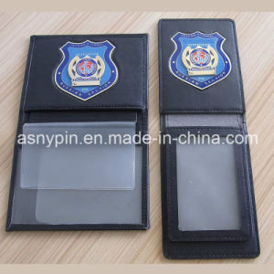 Law Enforcement Officers Metal Badge Clips on and in Leather Wallets pictures & photos