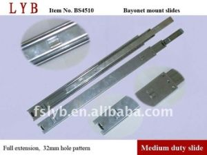 45mm Full Extension Bayonet Mounting Ball Bearing Slides Application for Steel Cabinet pictures & photos