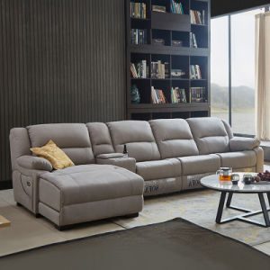 Contemporary European Style Fabric Reclining Sofa Furniture with Motor & Remote Control